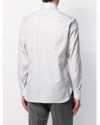 Buttoned striped shirt di Ermenegildo Zegna in Multicolor da Uomo