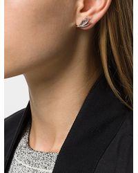 Shaun Leane - Metallic White Feather Diamond Earrings - Lyst