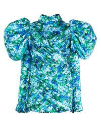 Vestito a fiori di Richard Quinn in Green