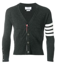 Thom Browne Gray Cashmere Button-down Cardigan for men