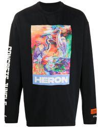 メンズ Heron Preston プリント Tシャツ Black