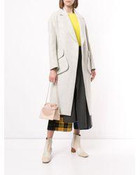 Manteau long ample à fermeture dissimulée Enfold en coloris Gray