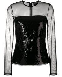 Tom Ford Black Sheer Sequin Top