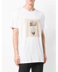 Alexander McQueen - White Oversized Printed T-shirt for Men - Lyst