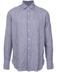 Camisa de cuadros gingham The Gigi de hombre de color Blue