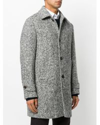 Eleventy - Black Classic Buttoned Coat for Men - Lyst