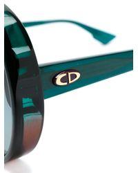 Gafas de sol estilo aviador Dior de color Green