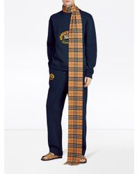 Burberry - Multicolor Long Vintage Check Cashmere Scarf for Men - Lyst