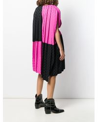 Robe bicolore à carreaux MSGM en coloris Pink