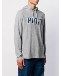 Felpa con stampa di Polo Ralph Lauren in Gray da Uomo