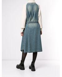 Sacai Blue Knitted Jumper Dress