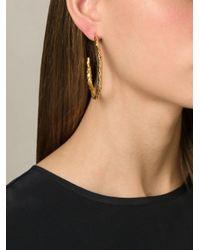 Aurelie Bidermann - Metallic 'tao' Hoop Earrings - Lyst