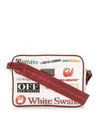 Bolso cámara con estampado de logos Off-White c/o Virgil Abloh de color White