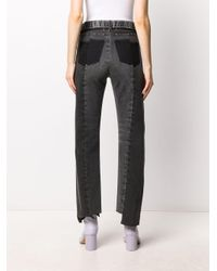 Maison Margiela Black High-waisted Raw Hem Jeans