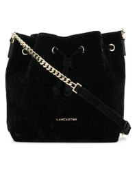 Lancaster Black Bucket Shoulder Bag