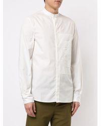 Qasimi White Mandarin Collar Shirt for men