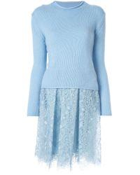 Ermanno Scervino Blue Half Knit Dress