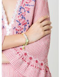 Venessa Arizaga - Green Fresh Lime Woven Bracelet - Lyst