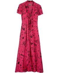 Vestito lungo di Burberry in Red
