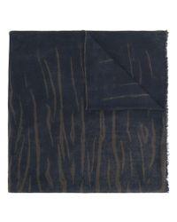 Ferragamo - Blue Tiger Stripe Print Oblong Scarf - Lyst