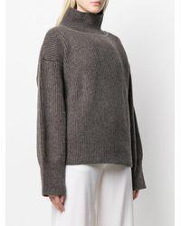 Maison Kitsuné Brown Pullover im Oversized-Look