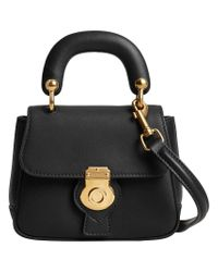 Burberry - Black Mini Dk88 Top Handle Bag - Lyst