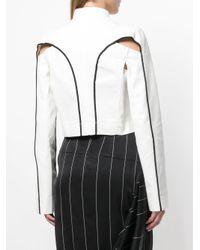 Haider Ackermann - White Cut-out Detail Jacket - Lyst