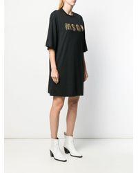 Vestito modello T-shirt di MSGM in Black