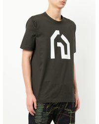 Junya Watanabe Gray Graphic Print T-shirt for men