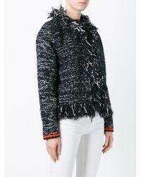 Giambattista Valli - Black Frayed Seam Jacket - Lyst