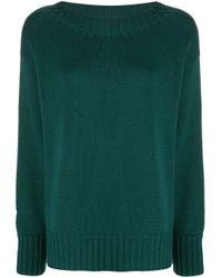 Drumohr Green Boat-neck Knitted Jumper