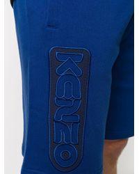 メンズ KENZO ロゴ トラックショートパンツ Blue