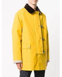 メンズ Fay ピンディテール コート Yellow