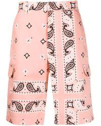 メンズ MSGM プリント バミューダショーツ Pink
