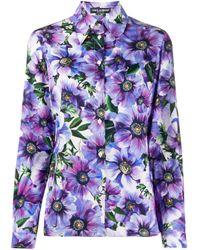 Dolce & Gabbana コットンポプリンシャツ Purple