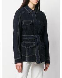 Veste en jean à taille ceinturée DROMe en coloris Blue
