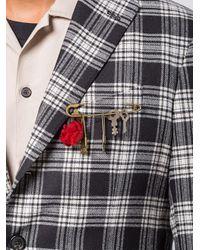 Брошь-булавка С Подвесками Undercover для него, цвет: Multicolor