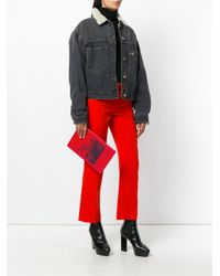 Givenchy - Red Bambi Print Clutch Bag - Lyst