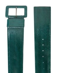 Cintura con fibbia di Carolina Herrera in Green