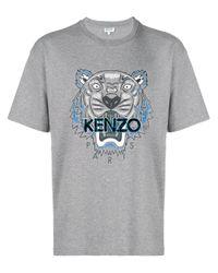 メンズ KENZO Tiger Tシャツ Gray