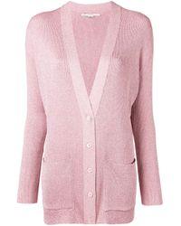 Cardigan à col v Stella McCartney en coloris Pink