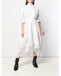 Платье Миди С Ажурной Вышивкой Alexander McQueen, цвет: White