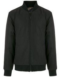 メンズ Osklen リバーシブル ボンバージャケット Black