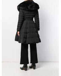 Elisabetta Franchi ベルテッド パデッドコート Black
