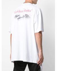 T-shirt oversize à logo imprimé Goden Ratio Off-White c/o Virgil Abloh pour homme en coloris White