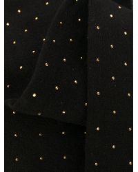 Papillon con borchie di Saint Laurent in Black da Uomo