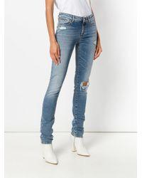 Sportmax Blue Distressed Skinny Jeans