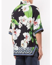 メンズ Dolce & Gabbana フローラル シャツ Green