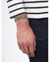 M. Cohen Metallic Knotted Wrap Bracelet for men