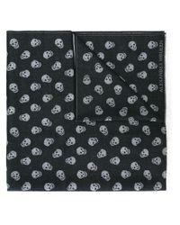 Alexander McQueen | Black 'skull' Knit Scarf for Men | Lyst